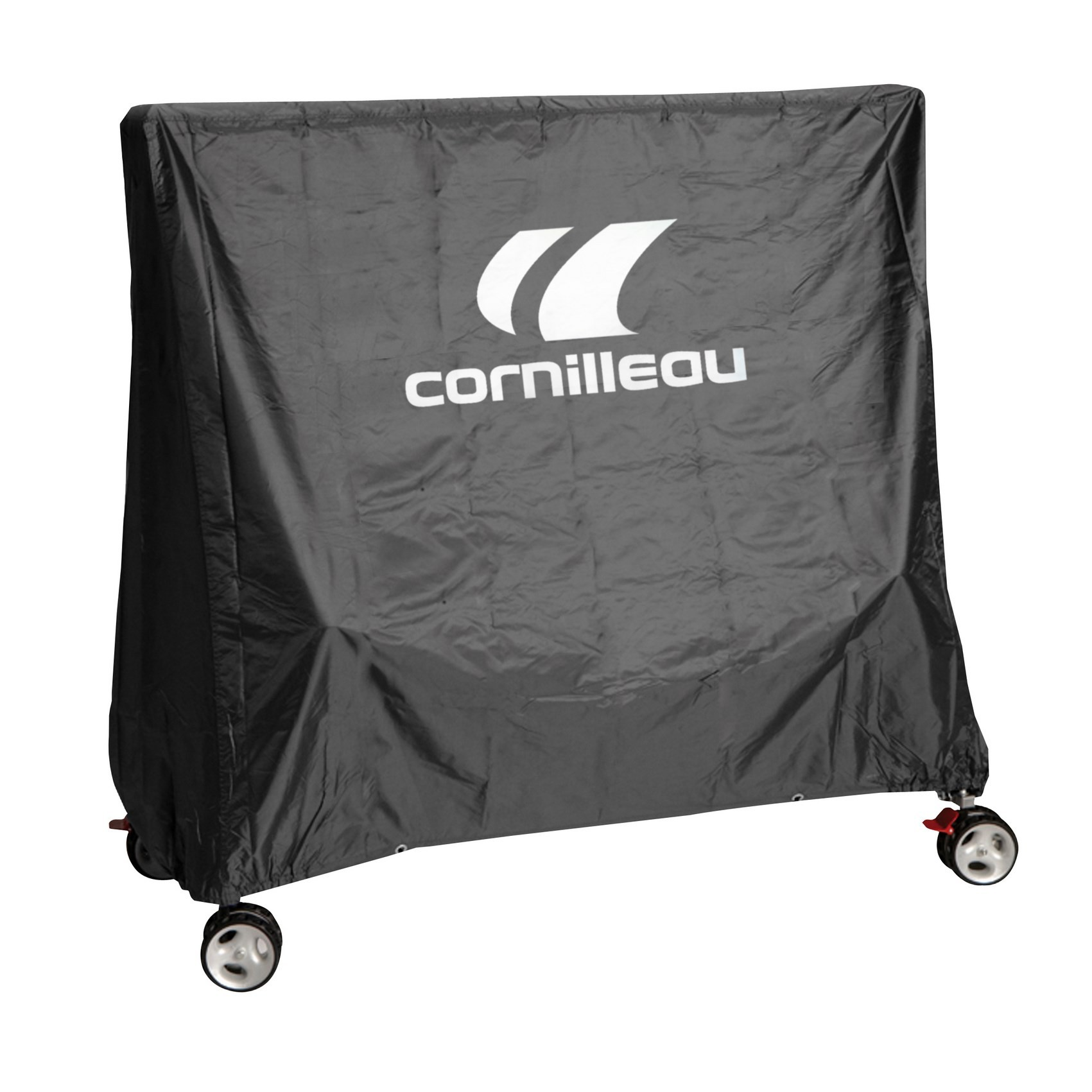 Cornilleau housse de table premium grise housses for Housse table de ping pong exterieur